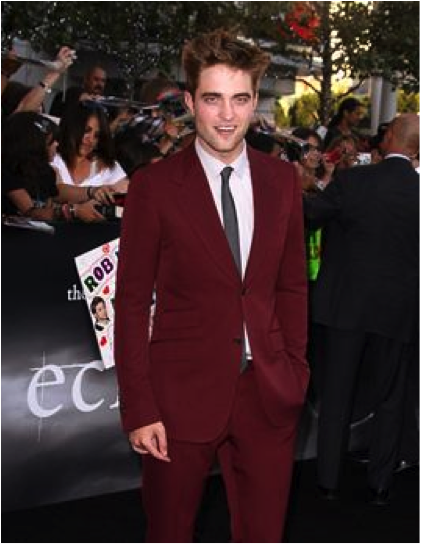 "Robert Pattinson at the post-premiere of the new Twilight movie ""Eclipse"""
